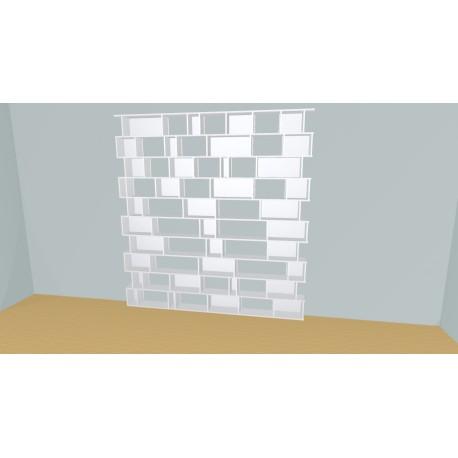 Boekenkast op maat (H240cm - B254 cm)