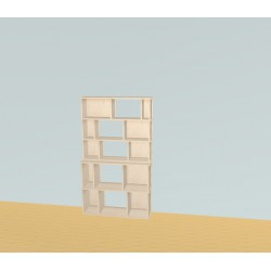 Custom bookcase (H156cm - W90 cm)