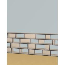 Boekenkast op maat (H103cm - B366 cm)