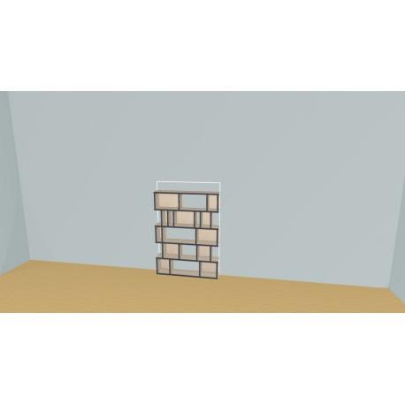 Boekenkast op maat (H121cm - B100 cm)