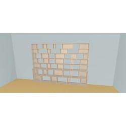 Boekenkast op maat (H203cm - B320 cm)