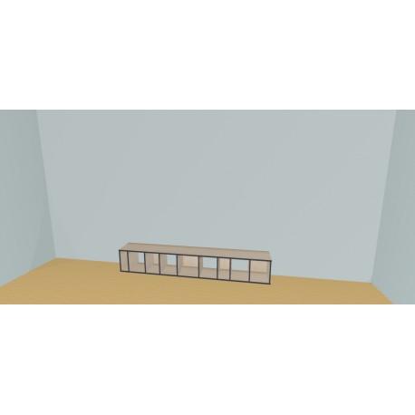 Custom bookcase (H38cm - W265 cm)