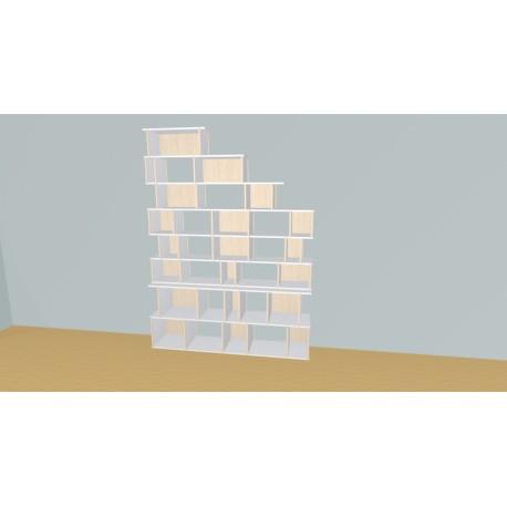 Boekenkast op maat (H236cm - B175 cm)