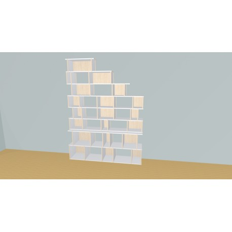 Meuble Bibliothèque sur-mesure (H236cm - L175 cm)