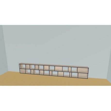 Custom bookcase (H55cm - W401 cm)