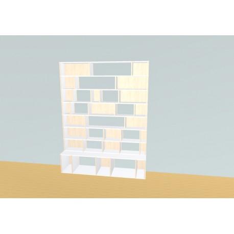 Boekenkast op maat (H206cm - B160 cm)