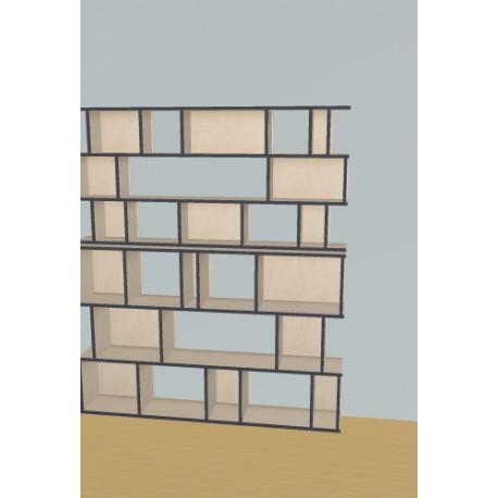 Custom bookcase (H191cm - W165 cm)