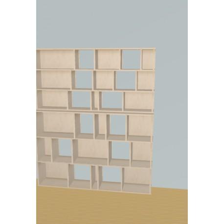 Boekenkast op maat (H191cm - B160 cm)
