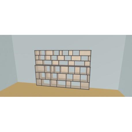 Boekenkast op maat (H182cm - B300 cm)