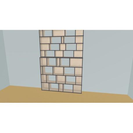 Custom bookcase (H302cm - W195 cm)