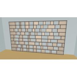 Custom bookcase (H225cm - W440 cm)