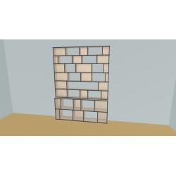 Boekenkast op maat (H230cm - B190 cm)