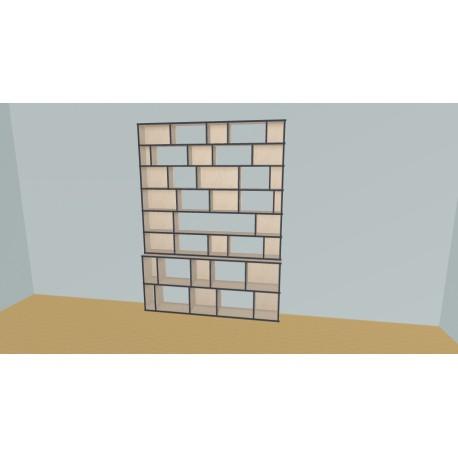 Custom bookcase (H230cm - W190 cm)
