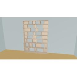 Boekenkast op maat (H230cm - B196 cm)