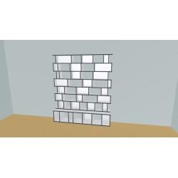Boekenkast op maat (H209cm - B200 cm)
