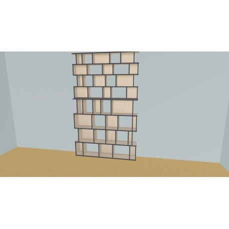 Boekenkast op maat (H248cm - B170 cm)