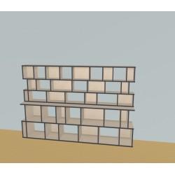 Boekenkast op maat (H150cm - B250 cm)