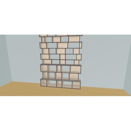 Boekenkast op maat (H318cm - B200 cm)