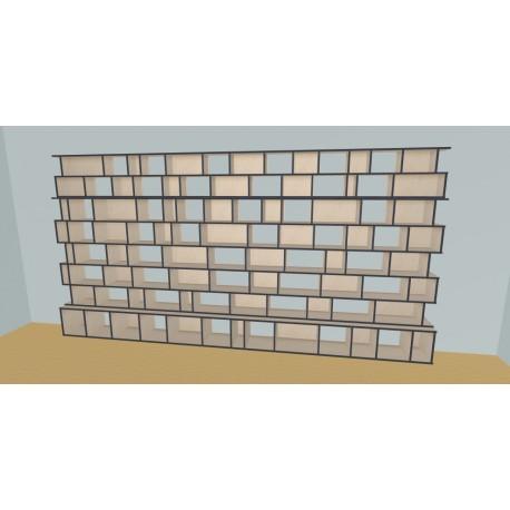 Boekenkast op maat (H223cm - B440 cm)