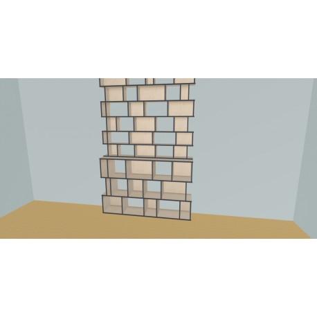 Boekenkast op maat (H263cm - B190 cm)