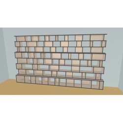Boekenkast op maat (H220cm - B440 cm)