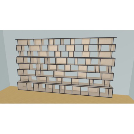 Custom bookcase (H220cm - W440 cm)