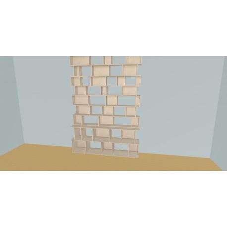 Boekenkast op maat (H304cm - B200 cm)