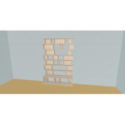 Meuble Bibliothèque sur-mesure (H218cm - L160 cm)