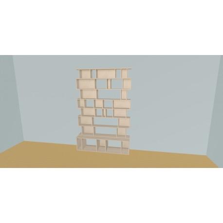 Boekenkast op maat (H218cm - B160 cm)
