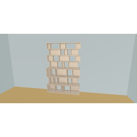 Meuble Bibliothèque sur-mesure (H215cm - L160 cm)