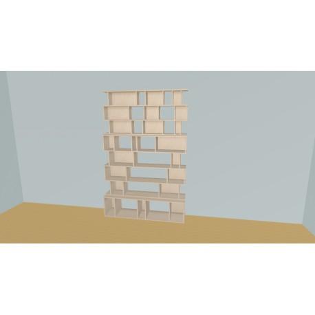 Custom bookcase (H220cm - W160 cm)