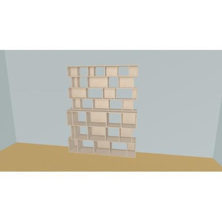Boekenkast op maat (H215cm - B190 cm)