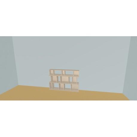 Custom bookcase (H99cm - W160 cm)