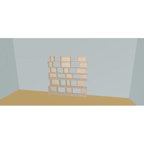 Boekenkast op maat (H176cm - B200 cm)