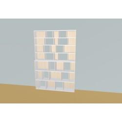 Boekenkast op maat (H212cm - B161 cm)
