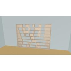 Boekenkast op maat (H192cm - B300 cm)