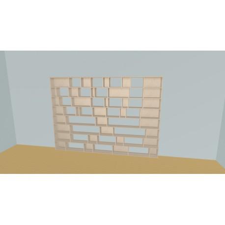 Meuble Bibliothèque sur-mesure (H192cm - L300 cm)