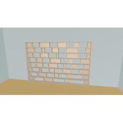 Custom bookcase (H192cm - W325 cm)