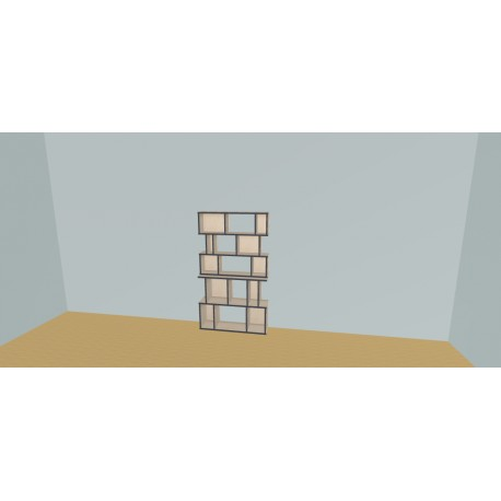 Boekenkast op maat (H156cm - B100 cm)