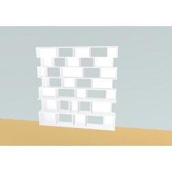 Boekenkast op maat (H203cm - B200 cm)