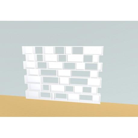 Boekenkast op maat (H177cm - B250 cm)
