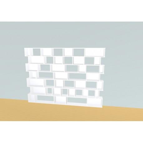 Boekenkast op maat (H177cm - B240 cm)