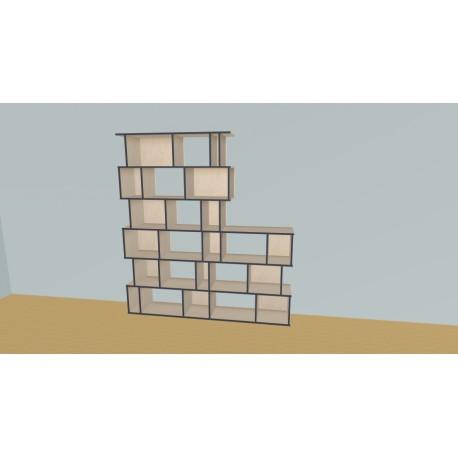Boekenkast op maat (H217cm - B200 cm)