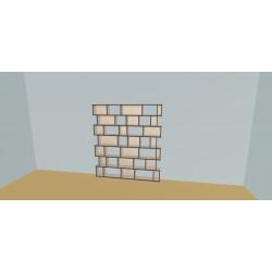 Custom bookcase (H180cm - W180 cm)