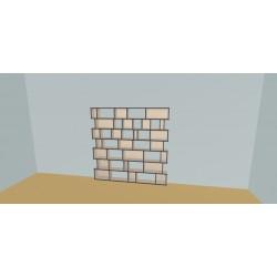 Boekenkast op maat (H177cm - B200 cm)