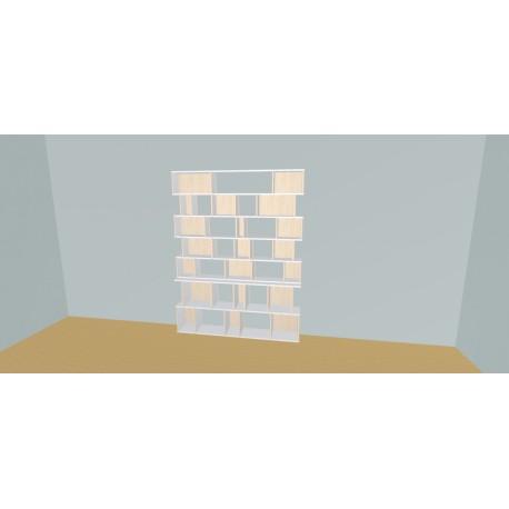 Boekenkast op maat (H209cm - B180 cm)