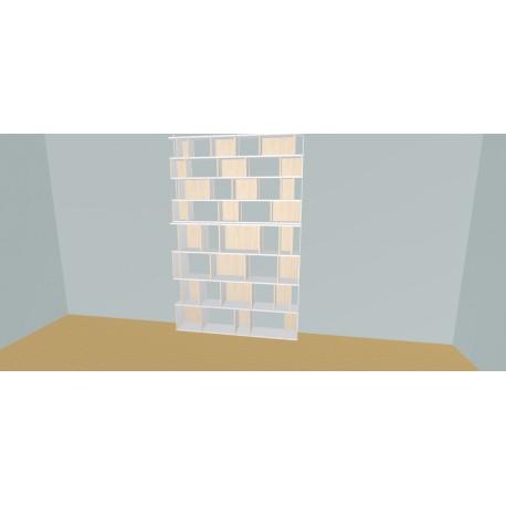 Boekenkast op maat (H248cm - B180 cm)