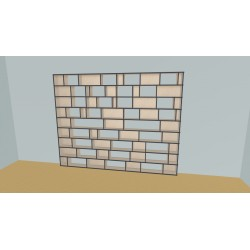 Boekenkast op maat (H216cm - B308 cm)