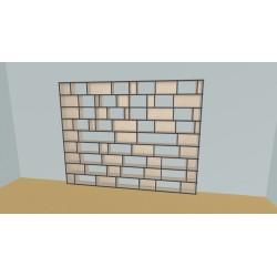Custom bookcase (H216cm - W308 cm)