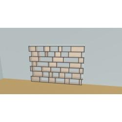 Boekenkast op maat (H174cm - B250 cm)
